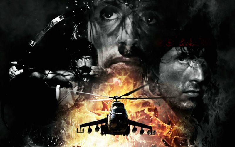 RAMBO action adventure drama movie film warrior (3) wallpaper
