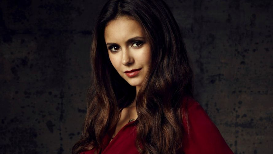 women actress long hair Nina Dobrev The Vampire Diaries wallpaper