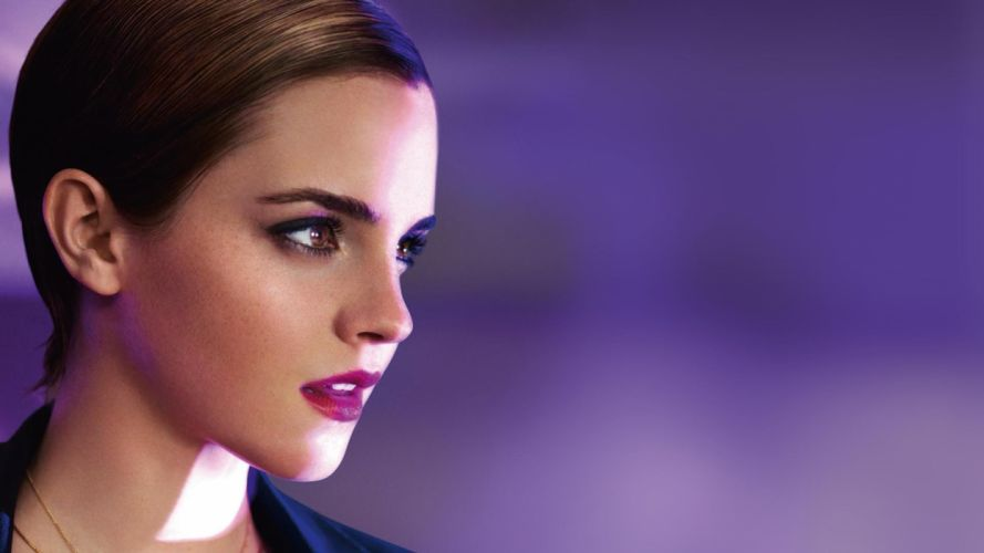 brunettes women Emma Watson actress celebrity faces wallpaper