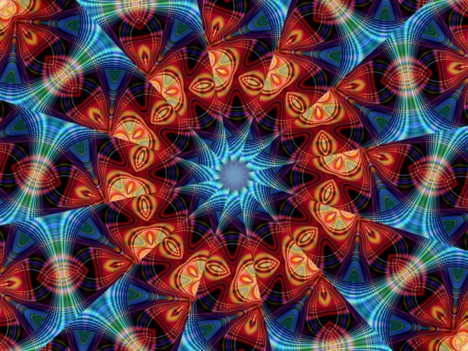 abstract fractals psychedelic wallpaper