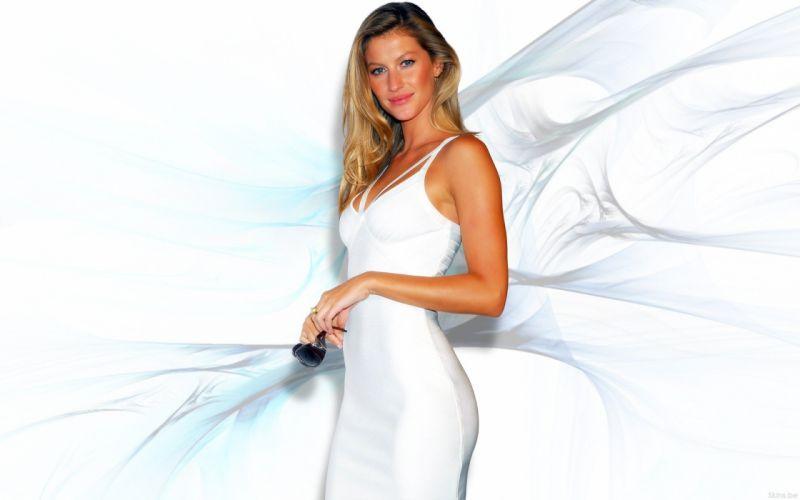 women Gisele Bundchen supermodels wallpaper