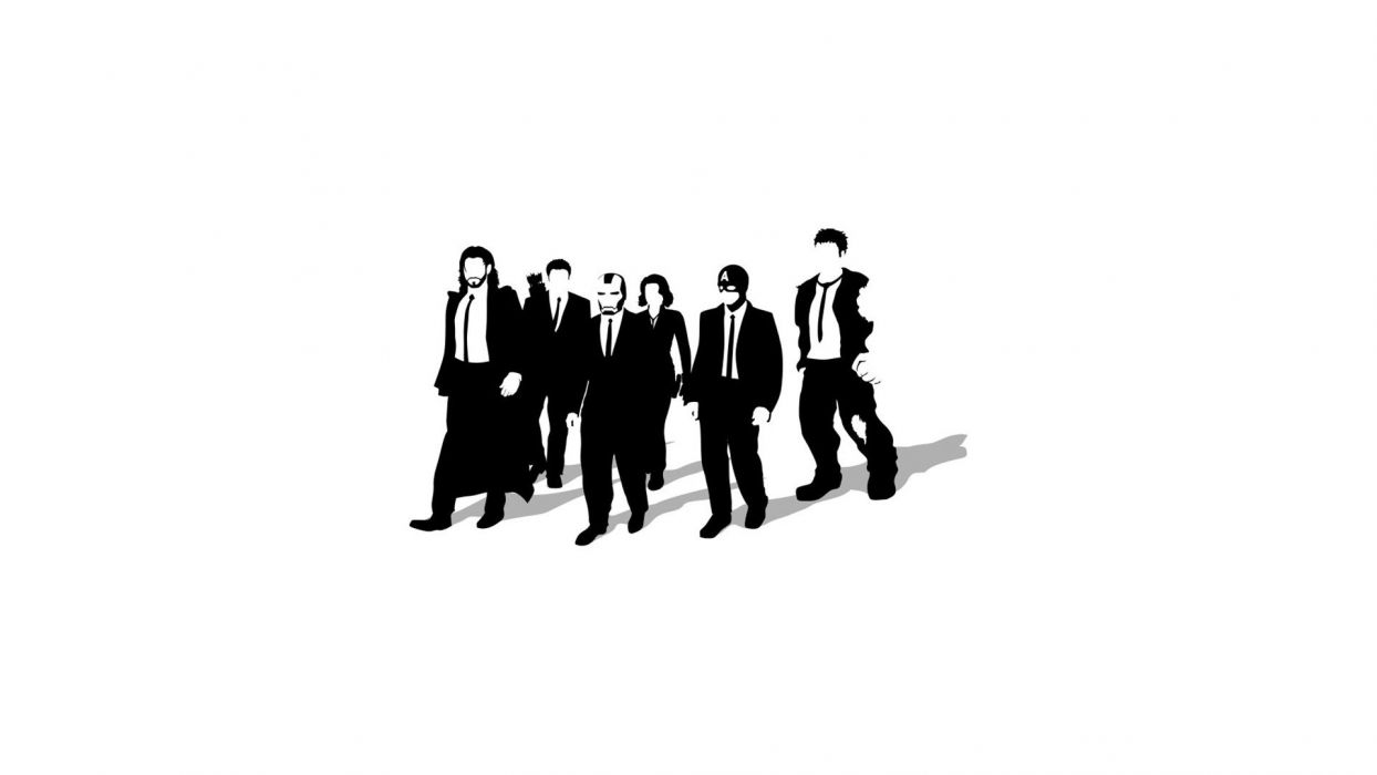 minimalistic Reservoir Dogs artwork simple background Avengers wallpaper