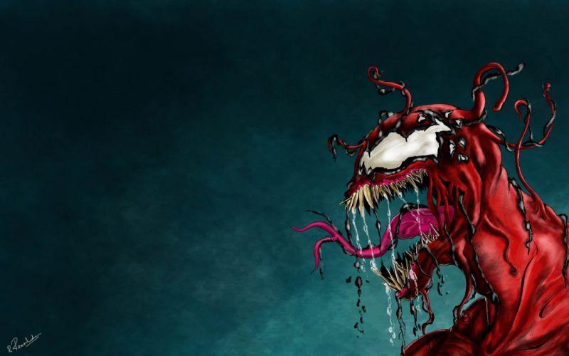 Venom Spider-Man Carnage Marvel Comics symbiote costume Kletus Cassady wallpaper