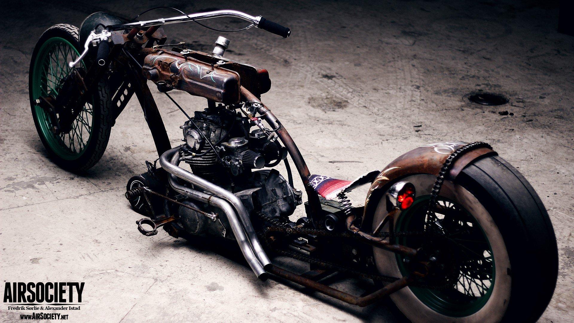 bike engines chopper ride yamaha rust suspension motorbikes air
