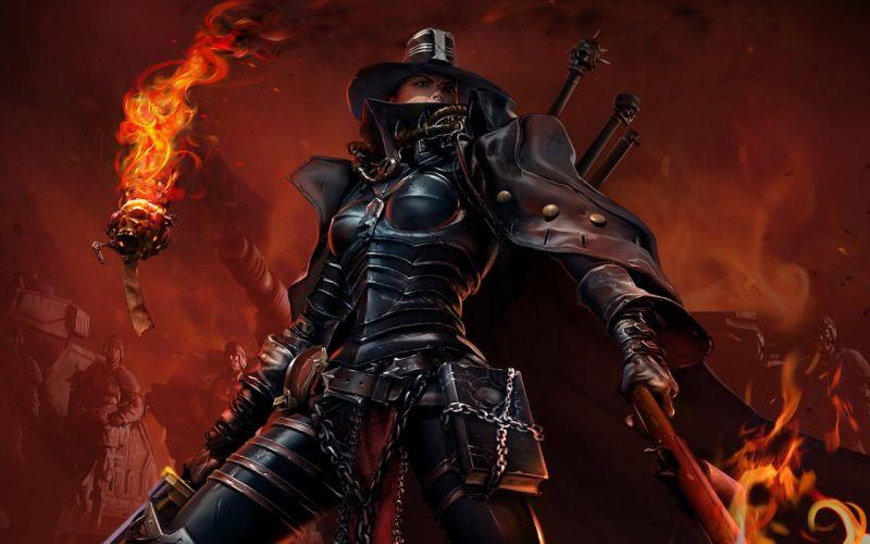 Warhammer CGI inquisition inquisitor Warhammer 40 000 Warhammer 40k wallpaper