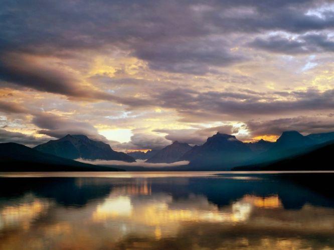 clouds landscapes lakes wallpaper