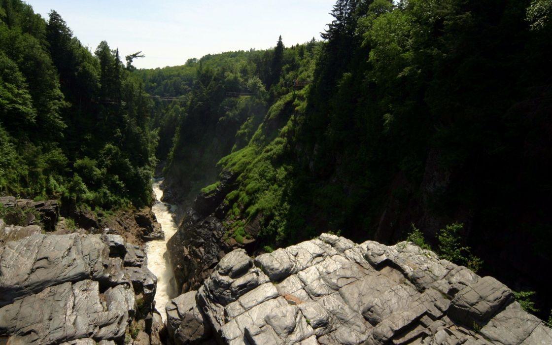 landscapes trees waterfalls wallpaper
