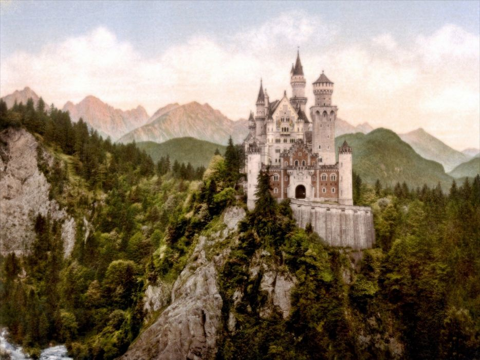 Germany architecture Bavaria Neuschwanstein Castle wallpaper