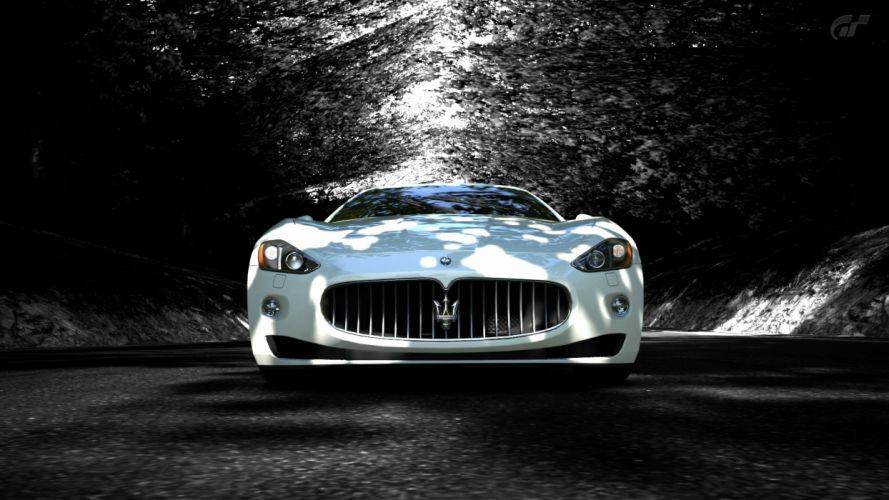 White Maserati Granturismo wallpaper