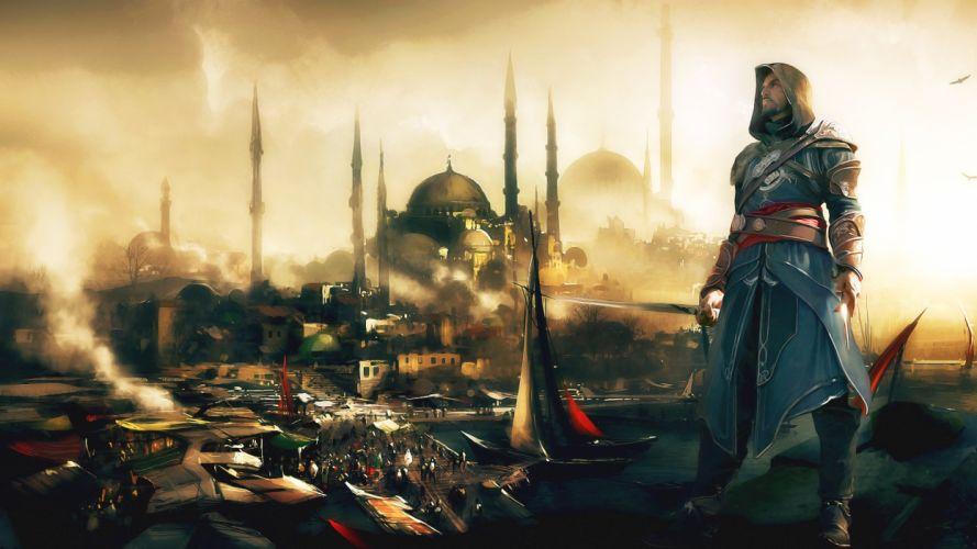 ships Assassins Creed Revelations Ezio Auditore da Firenze wallpaper