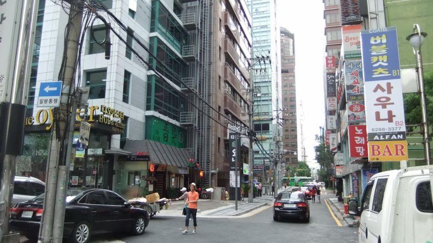 cityscapes streets outdoors Korea wallpaper