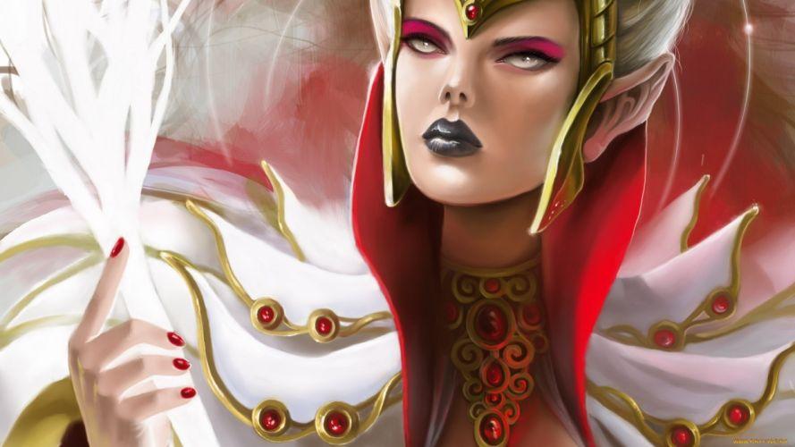 women fantasy fantasy art white hair wallpaper