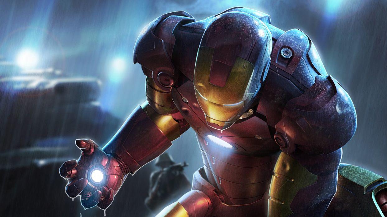 Iron Man movies rain comics Marvel Comics wallpaper