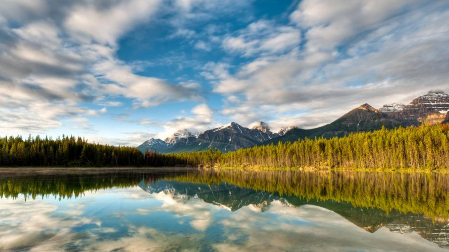 landscapes reflections wallpaper