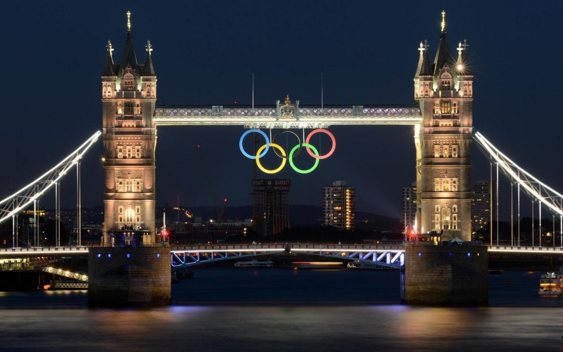 cityscapes London Tamiza olympic rings wallpaper