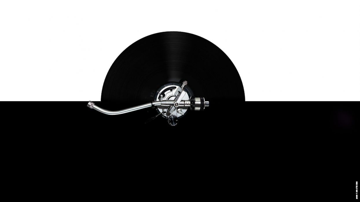black white turntable vinyl turntables technics DJ  arms mk2 scratch wallpaper