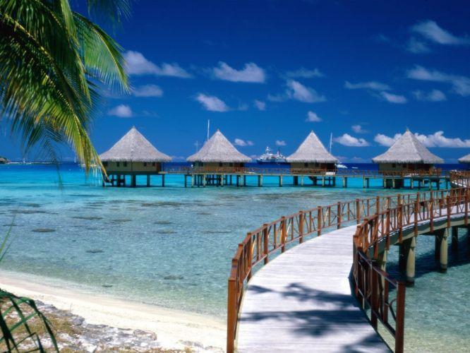 paradise French Polynesia wallpaper
