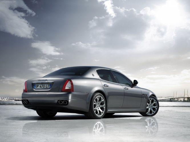 cars silver vehicles Maserati Quattroporte wallpaper
