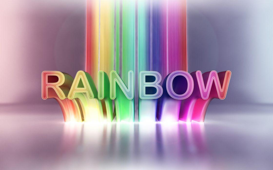 multicolor text typography rainbows color splash wallpaper