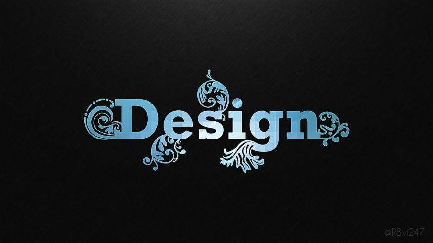 blue black design patterns typography floral black background colors wallpaper
