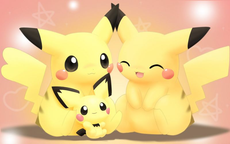 Pokemon Pikachu alternative art Pichu wallpaper