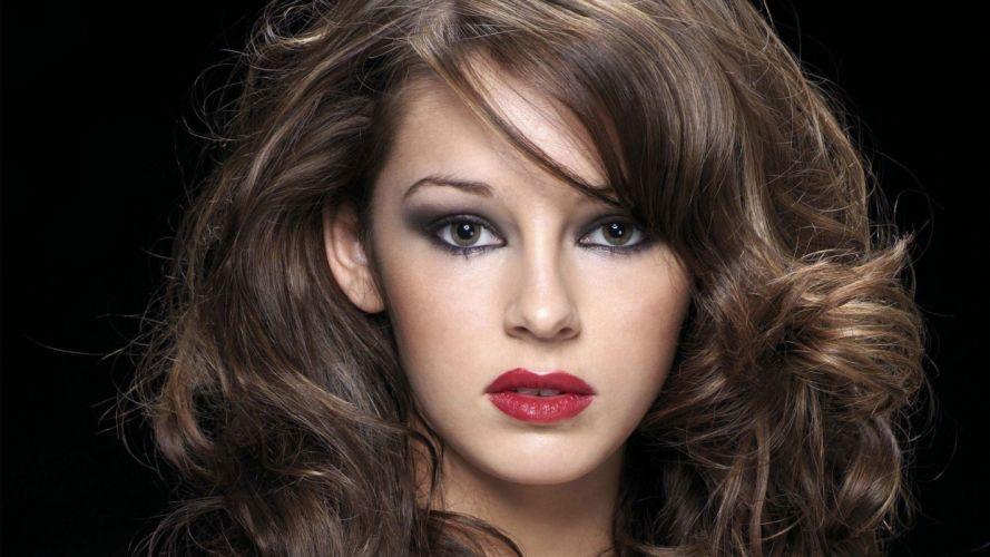 brunettes women models Keeley Hazell wallpaper