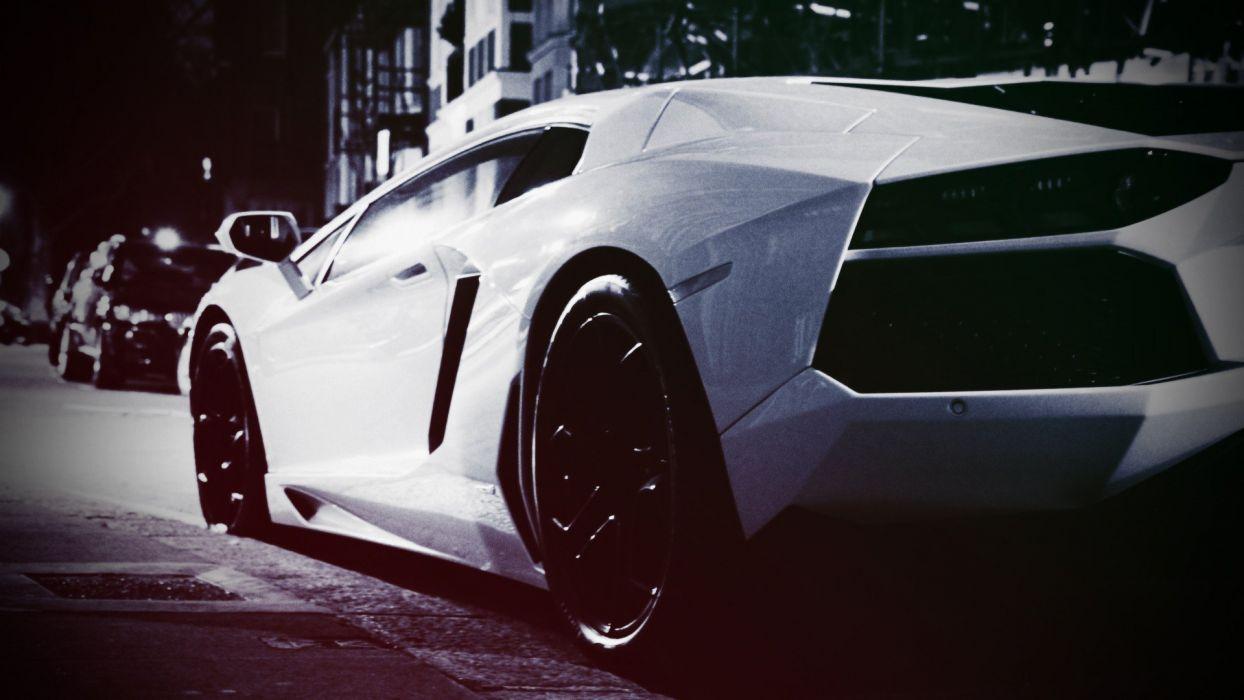 streets vintage cars Lamborghini Lamborghini Aventador wallpaper