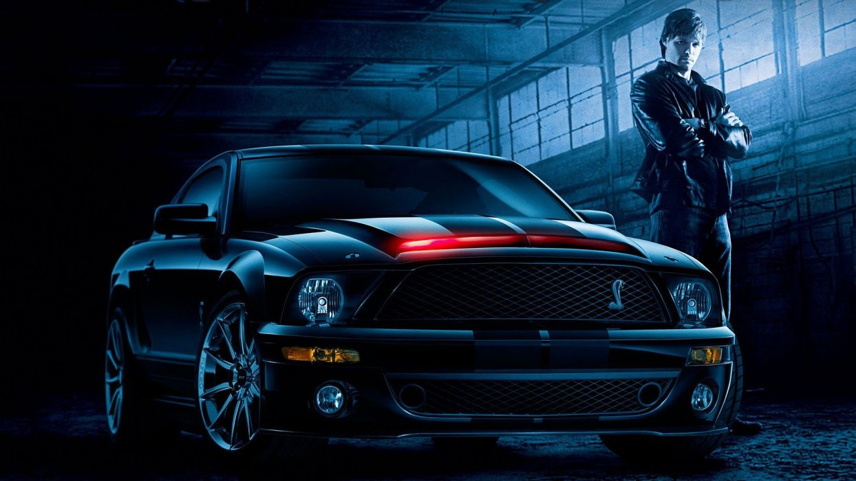 cars muscle cars Ford Mustang Knight Rider widescreen wallpaper
