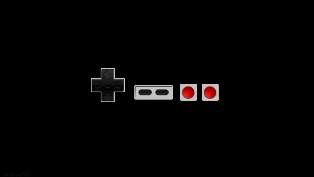 Nintendo video games black background NES wallpaper