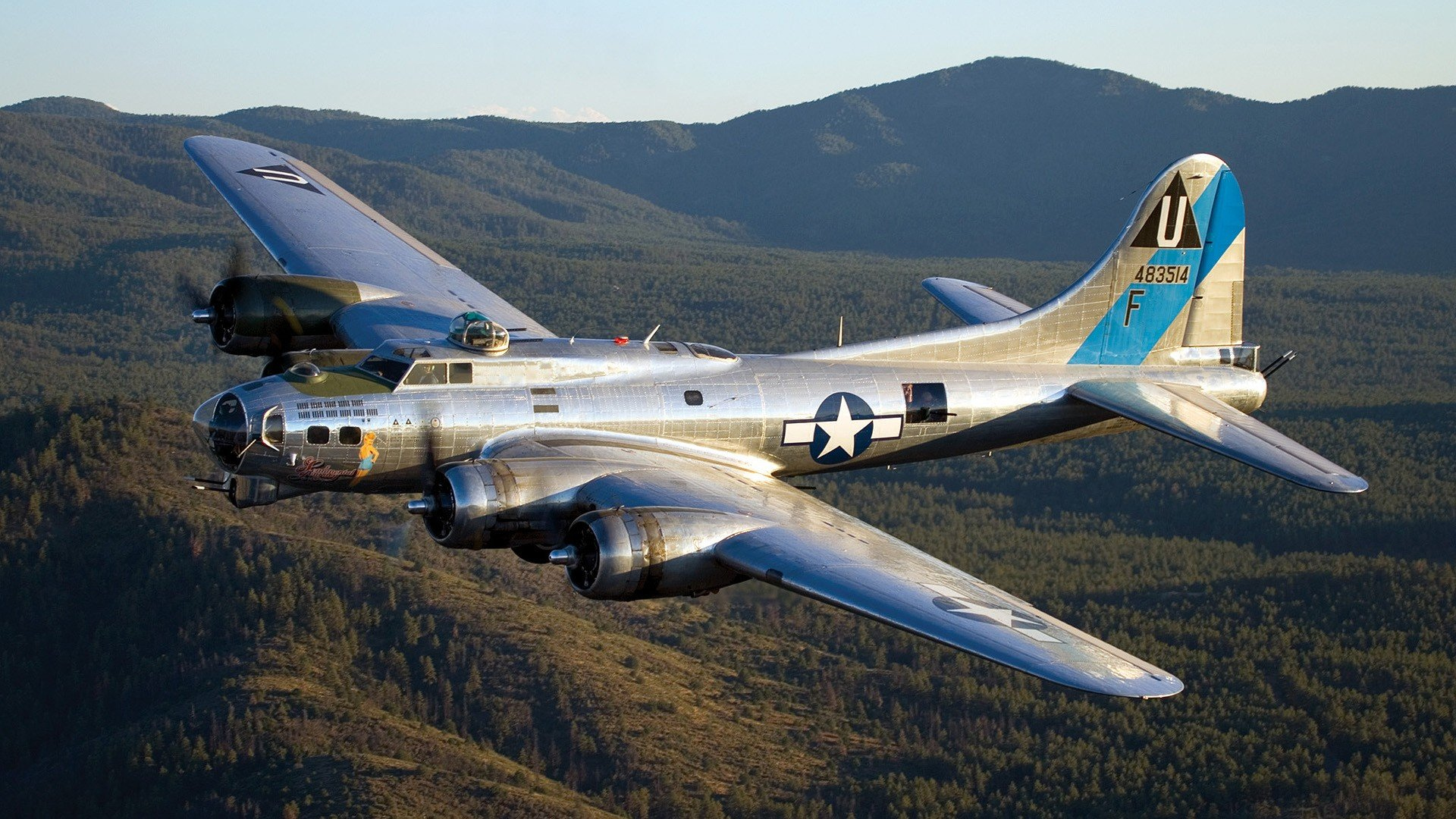 Airplanes Warbird B 17 Flying Fortress Wallpaper 1920x1080