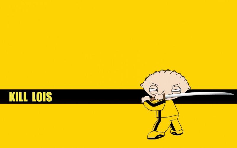 yellow Family Guy Kill Bill Stewie Griffin wallpaper