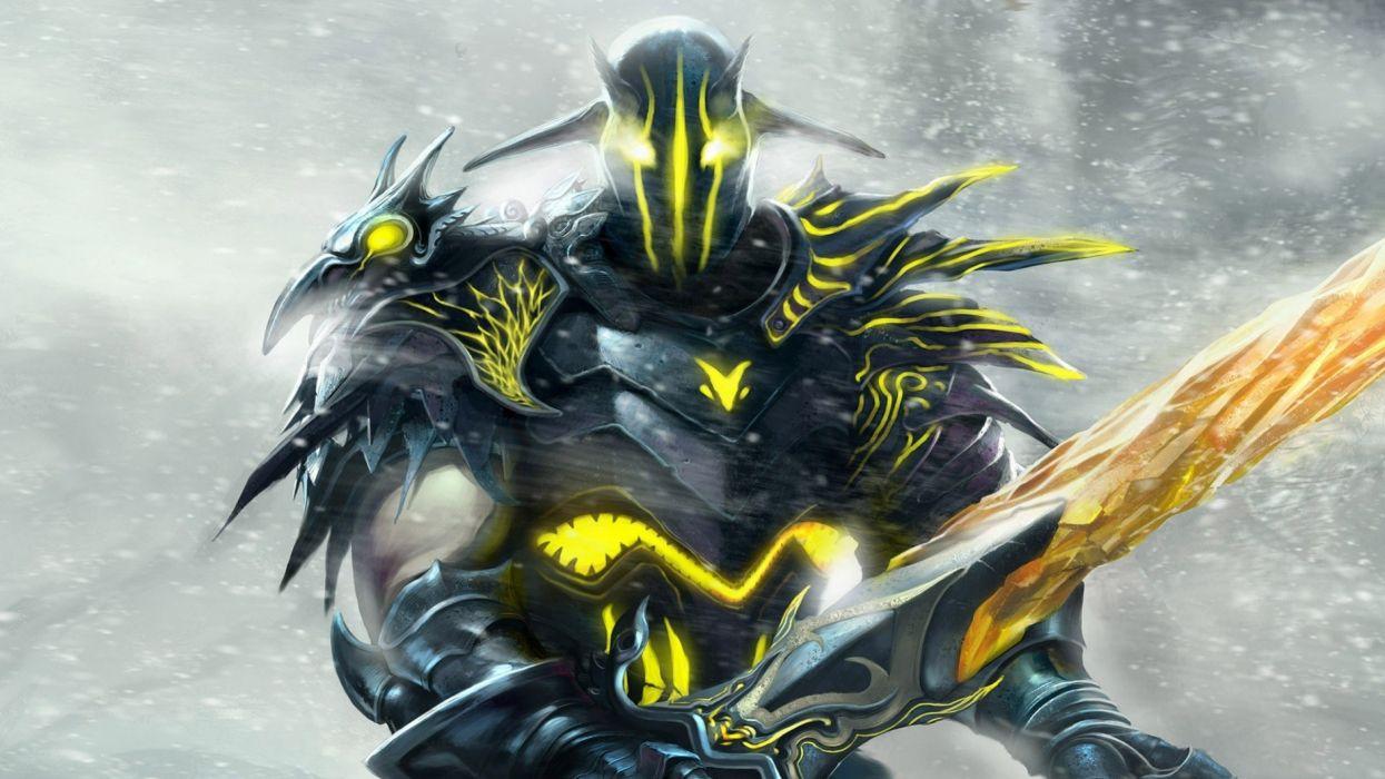 video games fantasy art DotA creatures swords Sven wallpaper