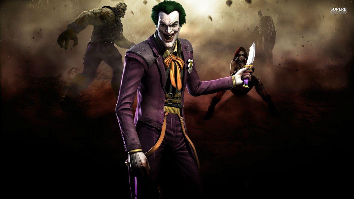 video games The Joker posters gods screens Injustice wallpaper