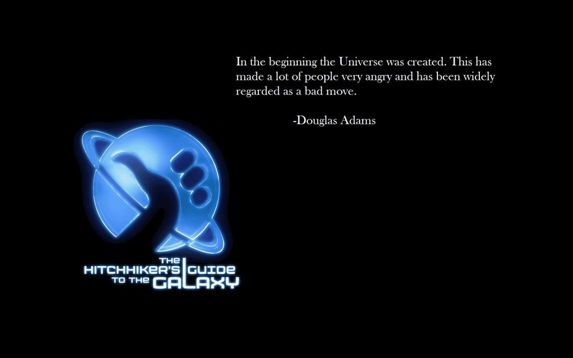 Douglas Adams The Hitchhikers Guide To The Galaxy wallpaper