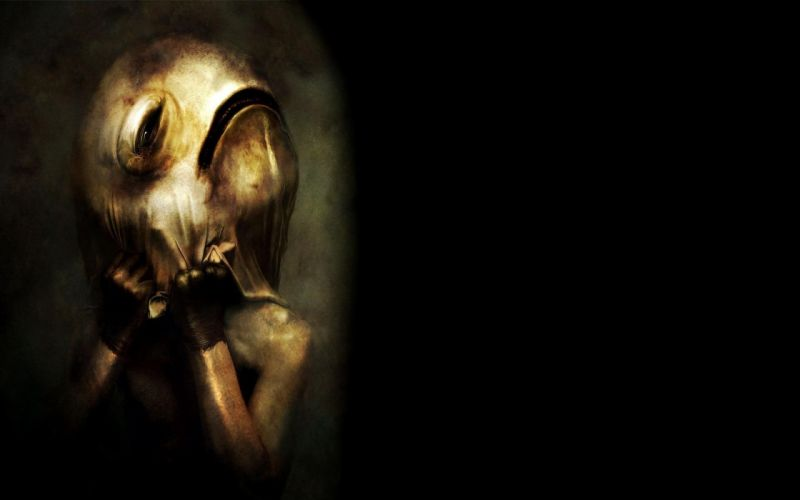 masks eerie wallpaper