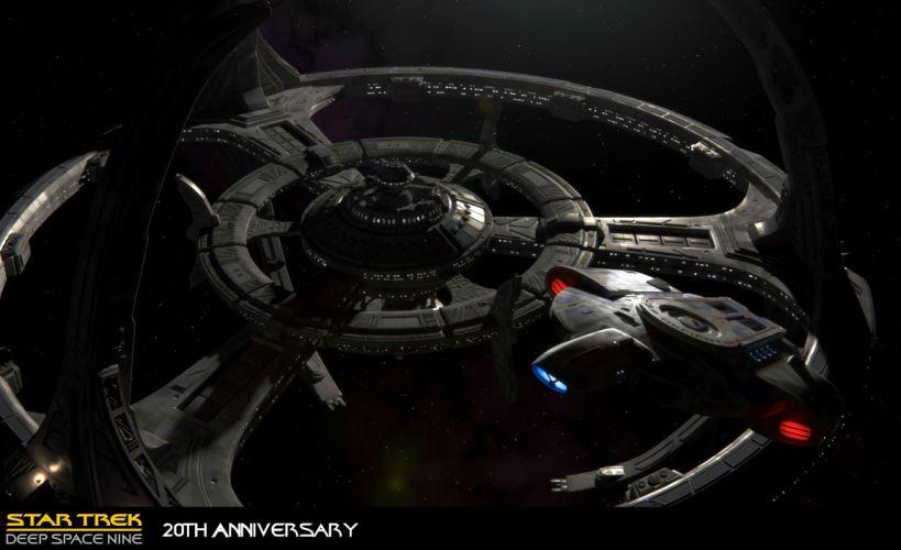 DEEP SPACE NINE Star Trek futuristic television sci-fi spaceship (2) wallpaper