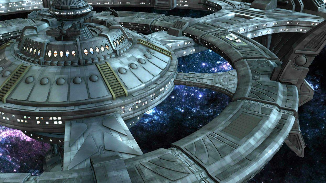 DEEP SPACE NINE Star Trek futuristic television sci-fi spaceship (3) wallpaper
