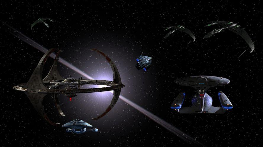 DEEP SPACE NINE Star Trek futuristic television sci-fi spaceship (7) wallpaper