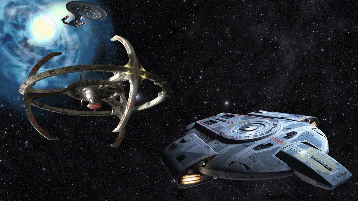 DEEP SPACE NINE Star Trek futuristic television sci-fi spaceship (12) wallpaper