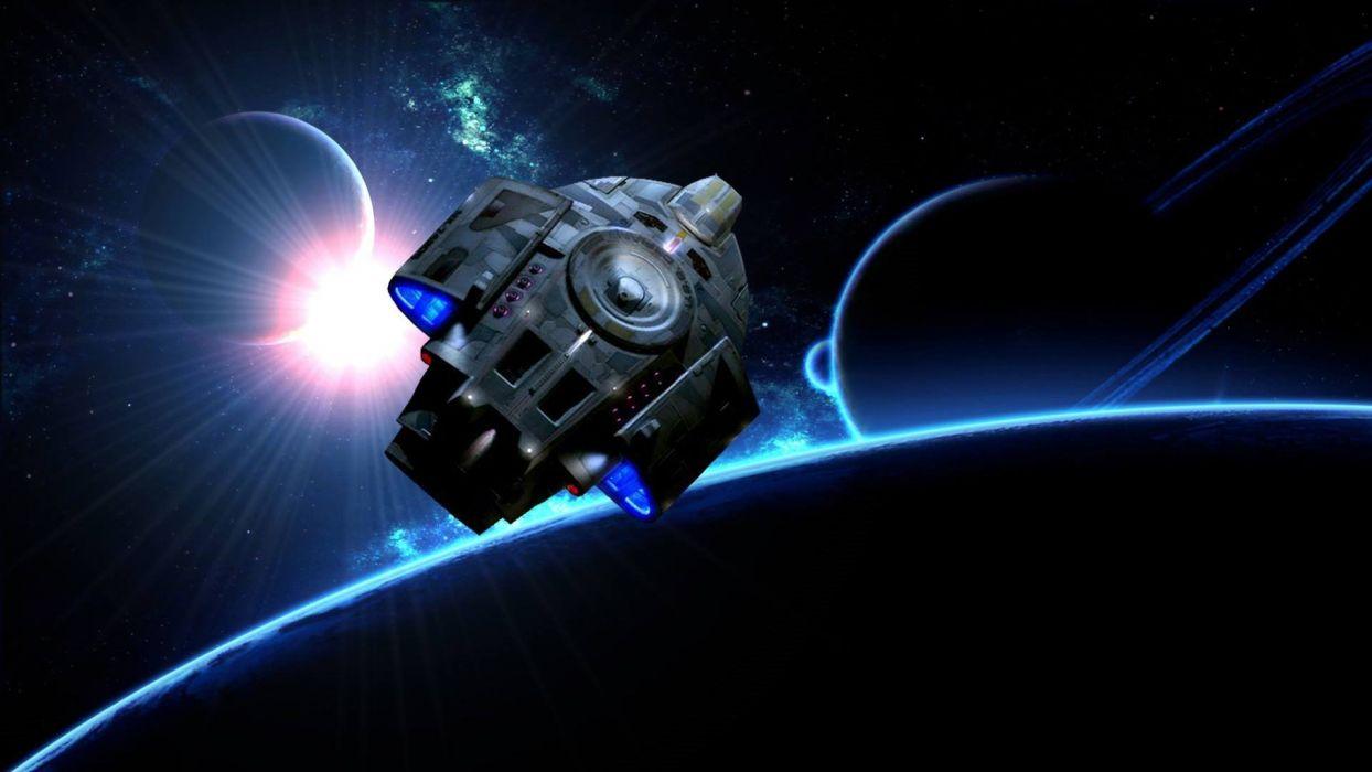 DEEP SPACE NINE Star Trek futuristic television sci-fi spaceship (17) wallpaper