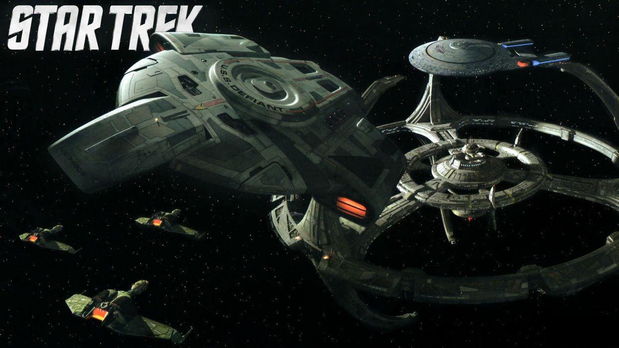 DEEP SPACE NINE Star Trek futuristic television sci-fi spaceship (24) wallpaper