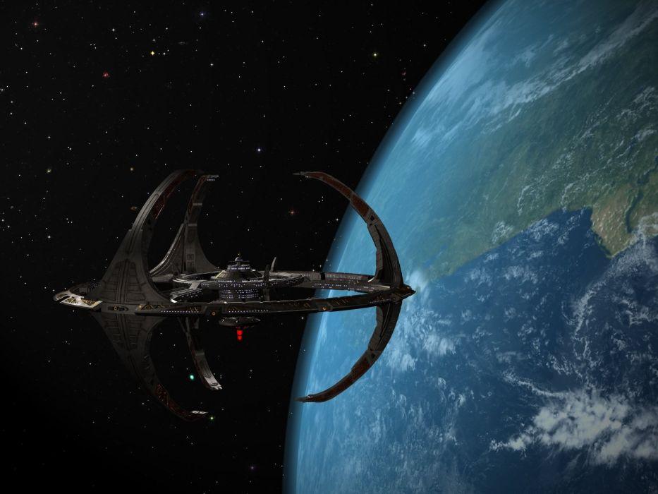 DEEP SPACE NINE Star Trek futuristic television sci-fi spaceship (32) wallpaper