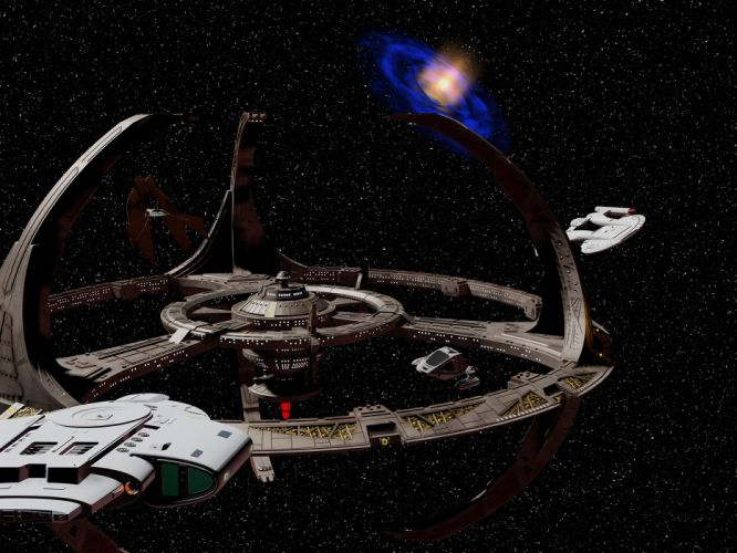 DEEP SPACE NINE Star Trek futuristic television sci-fi spaceship (33) wallpaper