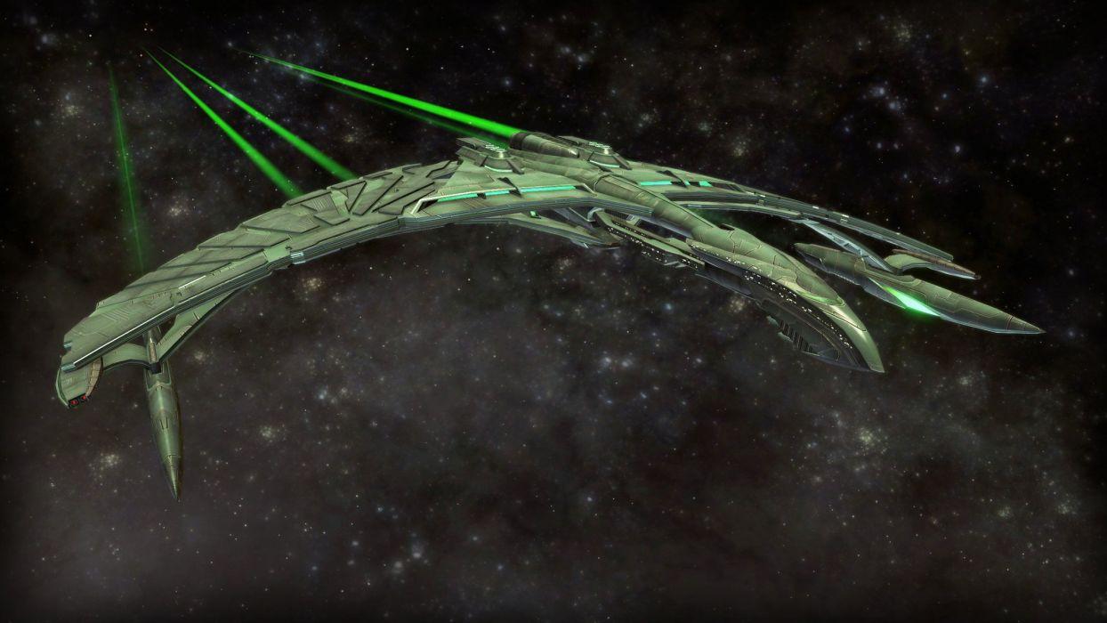 STAR TREK ONLINE game sci-fi spaceship wallpaper
