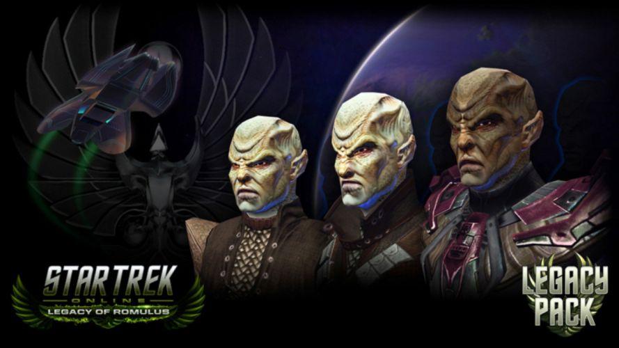 STAR TREK ONLINE game sci-fi poster alien wallpaper