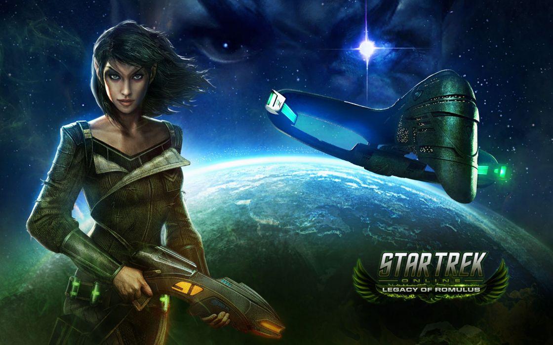 STAR TREK ONLINE game sci-fi poster spaceship wallpaper