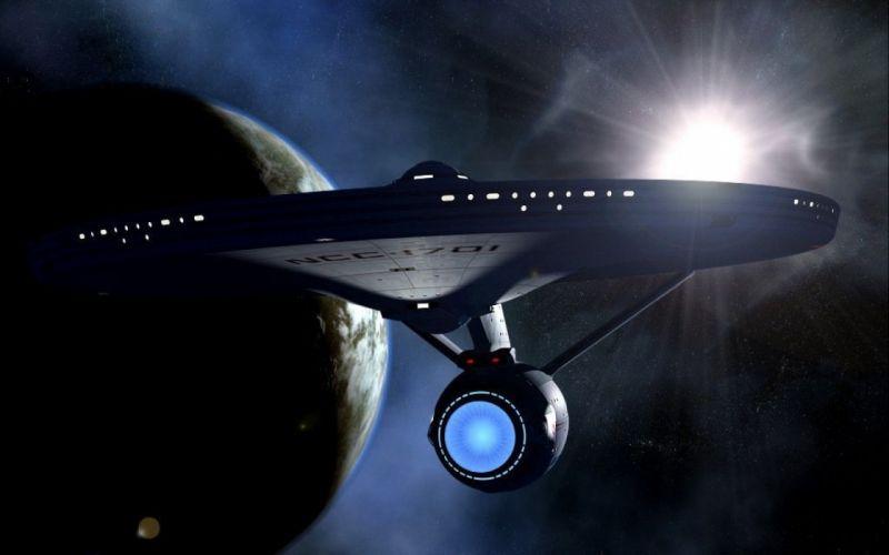 STAR TREK ONLINE game sci-fi spaceship planet wallpaper