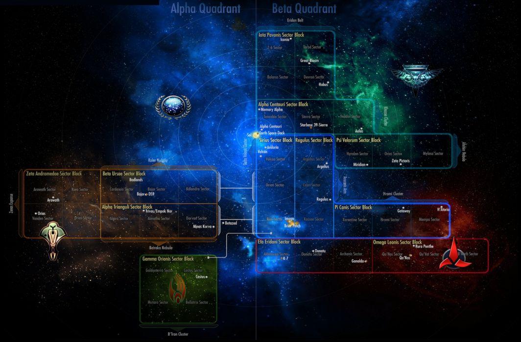 Star Trek Online Game Sci Fi Poster Map Wallpaper 2687x1769