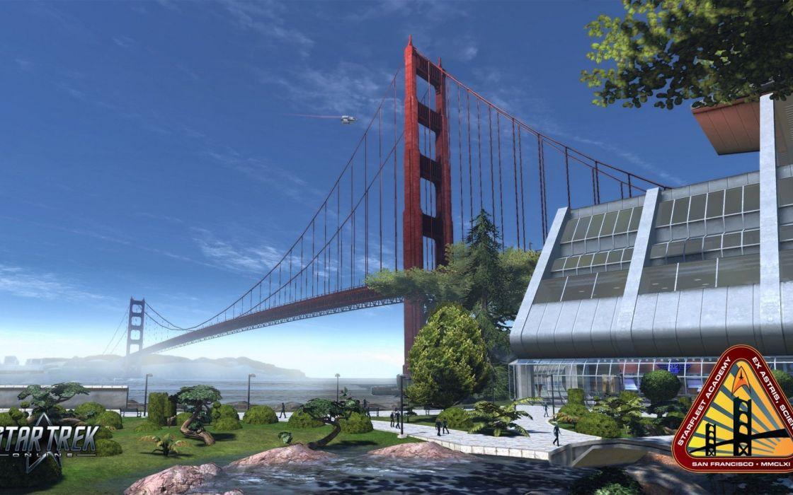 STAR TREK ONLINE game sci-fi bridge wallpaper