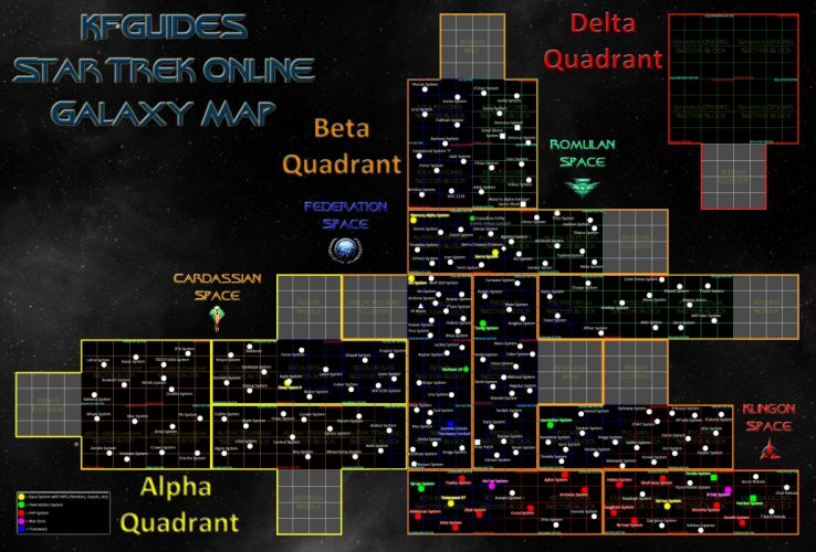 STAR TREK ONLINE game sci-fi futuristic map poster wallpaper